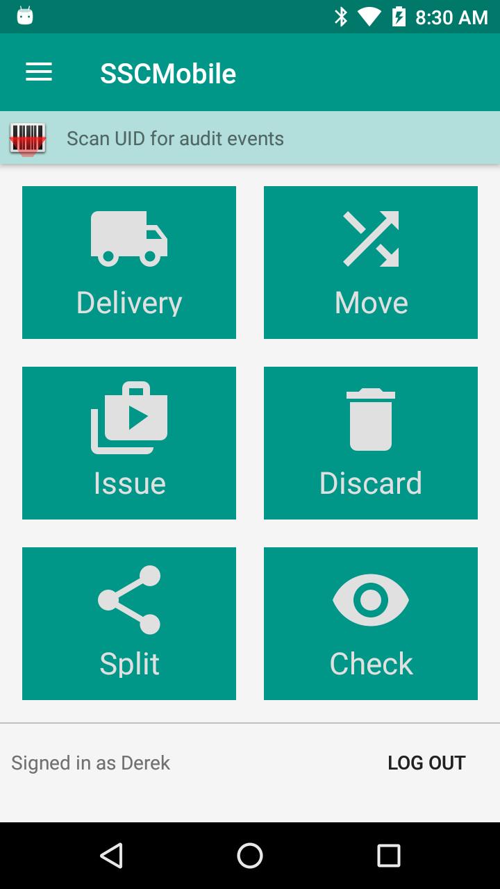 Savant Stock Control System: Mobile interface