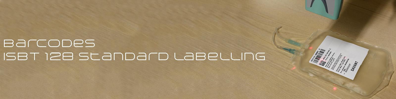Savant supply ISBT 128 standard barcode labelling software